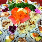 Party plate sushi