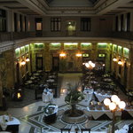  This is the restaurant from the second floor.