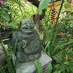 Fat Yogi statue at entrance