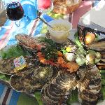 mixed shell fish platter at Le Kiosque à Coquillages