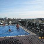 Roof top pool on 8th floor