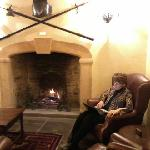  A log fire to curl up by in the evening - super