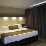 King Sized beds with quality doonas in our Refurbished rooms