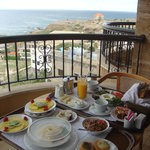 Breakfast (incl. in room rate) on our balcony