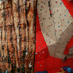 A view of the full climbing wall