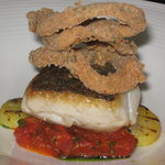 Delice of hake with spiced squid