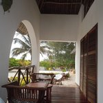 Honeymoon suite veranda.