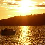 And sunset on Lake Taupo...
