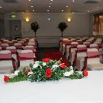  The main function room set for my wedding ceremony