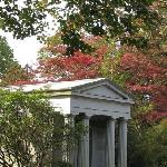 one of the many lovely mausoleums that grace the sleepy hollow cemetery