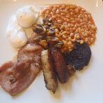  full english with poached eggs