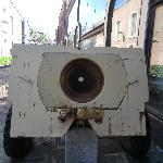  Military equipment at the museum entrance
