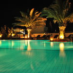 The pool at night - wow!