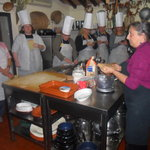 Patrizia instructing our ladies