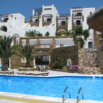 pool area and view of the hotel