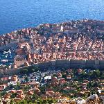 View from the hill above Dubrovnik.
