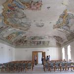 festivity hall with ceiling frescoes