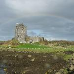 Dunguaire castle under the rainbow
