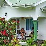  Guest relaxing under private verandah