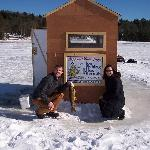 Heated Ice Fishing Huts