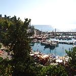 View of the roman harbour