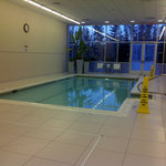 Indoor pool, not quite long enough for laps