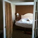 bedroom in King Suite room 115.