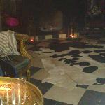 Late night, open fire, calf skin rug & mint tea.