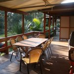 Cafe Cottage - the deck and BBQ