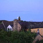 plas farmhouse by moonlight