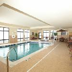 Heated indoor pool and whirlpool