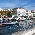 The grand canal near the Hotel das Salinas