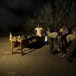  this camp operates with minimum technology, and no electricity is avalaible, yet light is provid