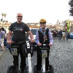 "With Andrea on our ""electric chariots"""