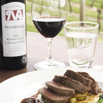 Our Dunleavy Cabernet/Merlot blend served along side Hawkes Bay Lamb