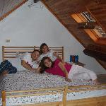  MARY, PANOS, EUGENIA IN LOFT UNDER THE ROOF