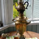  A Samovar on the front door veranda