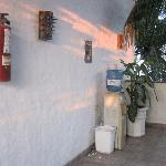 Water Bottle stations on the floors and also in the villa