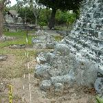  Base of stairway of Pyramid at El Meco