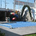 Heated pool and children's play area