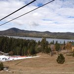 Big Bear Lake from chairlift to bobsled start