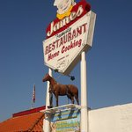 JAMES FAMILY RESTAURANT SIGN