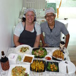 Ton, me and all of my delicious dishes!