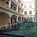 Courtyard of Smiley Guesthouse Building B