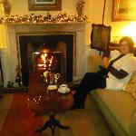 The roaring fire in the tea room was most enjoyable after a long cold day
