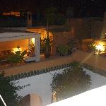 The roof terrace by night