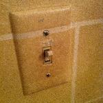  This light switch is demonstrable of overall cleanliness and upkeep