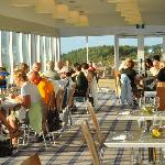 Guests enjoying a sunny evening in Panorama Restaurant.