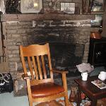  fireplace in Russell Cabin