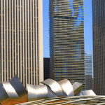 View of Aqua building from Millennium Park